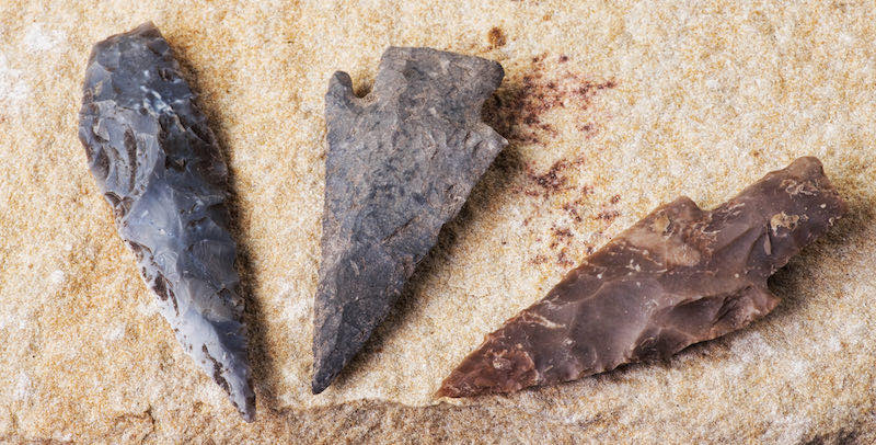 Real American Indian arrowheads | types of stone tools